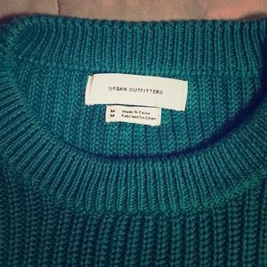 Urban Outfitters Teal Chunky Sweater